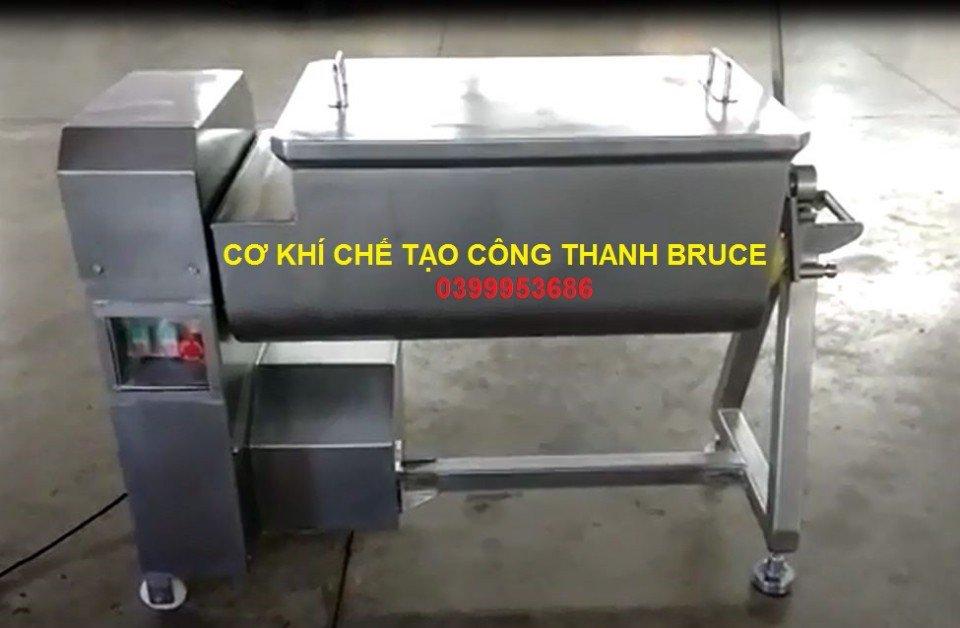 Máy trộn 2 trục, trộn thịt,thực phẩm gia vị 25kg/ mẻ trộn